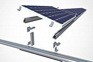 Componente do sistema solar fotovoltaico Estrutura de Fixação - DO INÍCIO AO FIM <strong>SISTEMA SOLAR FOTOVOLTAICO ON-GRID</strong>