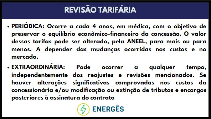 revisao tarifaria - TUDO SOBRE REAJUSTES E REVISÕES TARIFÁRIAS DE ENERGIA